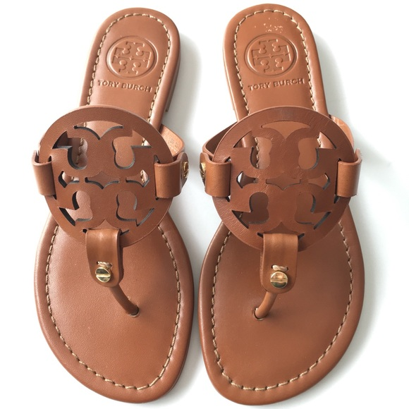 1accc9605 Tory Burch miller tan sandals Sz 5.5 new